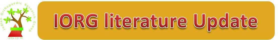 IORG Literature Update – 31st Oct – 6th Nov 2011