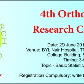 Orthopaedic Research Club – Fouth Meeting June 2013 – BYL Nair Hospital
